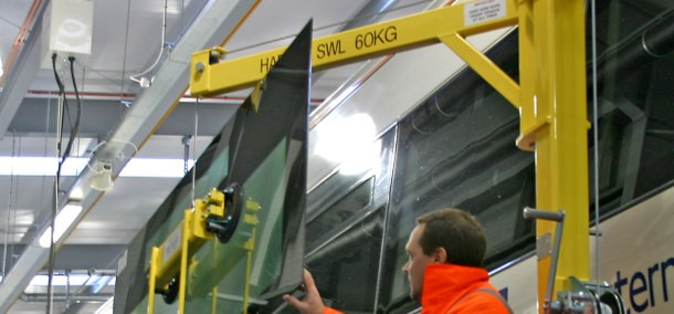 Train door and window handling